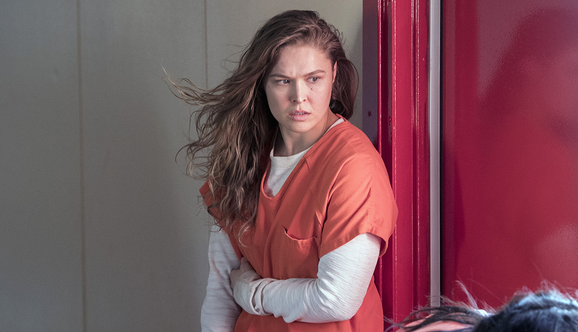 Ronda Rousey in a scene from the TV show Blindspot