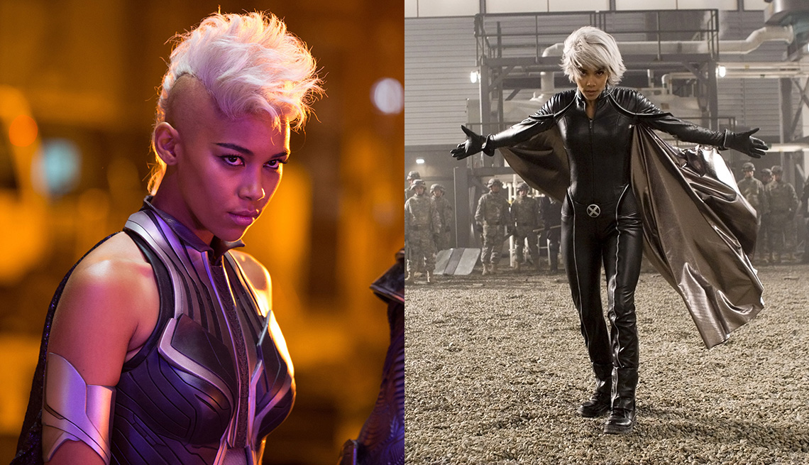 Alexandra Shipp and Halle Berry as Storm