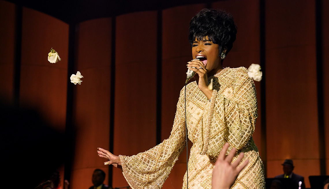 Jennifer Hudson performs as Aretha Franklin in the film Respect