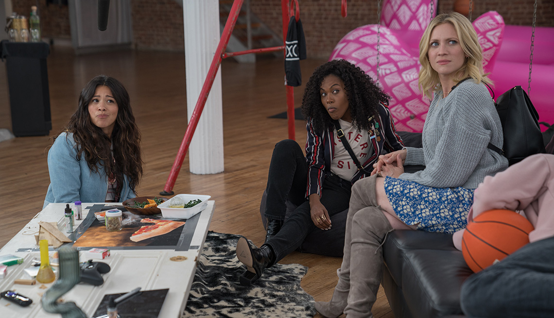 Gina Rodriguez, DeWanda Wise and Brittany Snow star in the film Someone Great