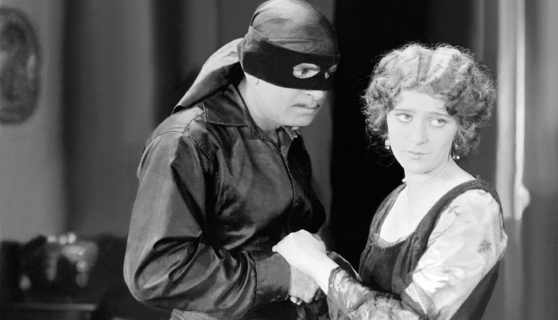 """Escena de la película """"The Mark of Zorro"""" de 1920."""