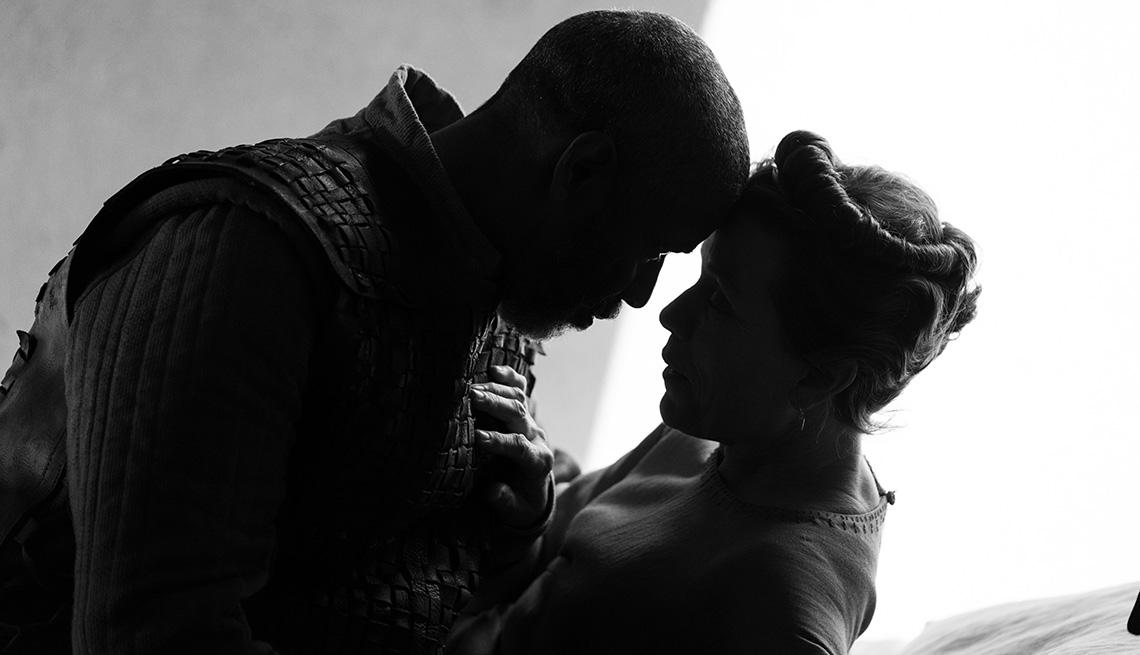 Denzel Washington and Frances McDormand star in the film The Tragedy of Macbeth