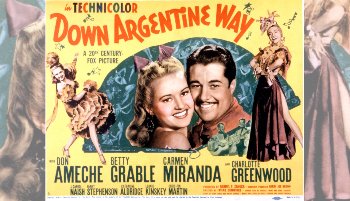 promotional poster for the film down argentine way