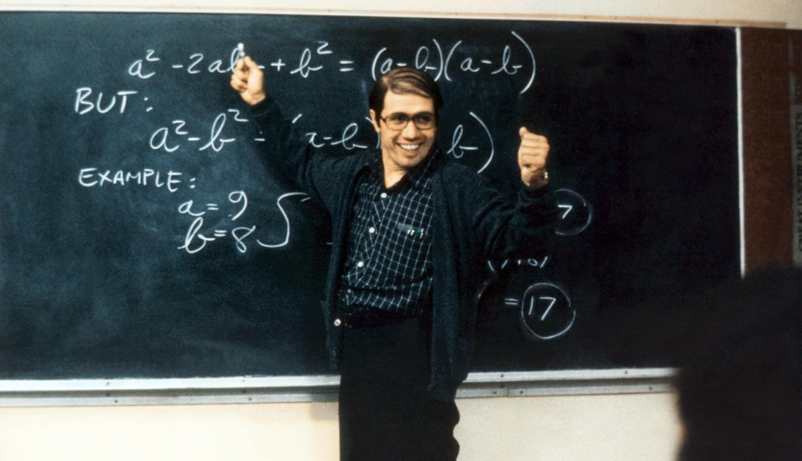 edward james olmos in a scene from the film stand and deliver