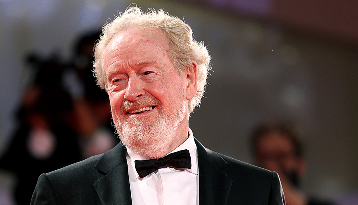 Director Ridley Scott on the red carpet at the 78th Venice International Film Festival