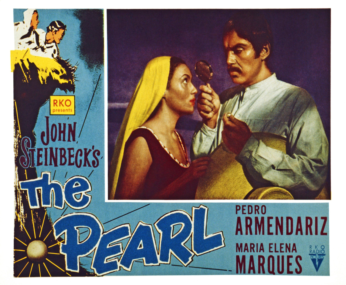 poster for the film the pearl starring maria elena marques and pedro armendariz