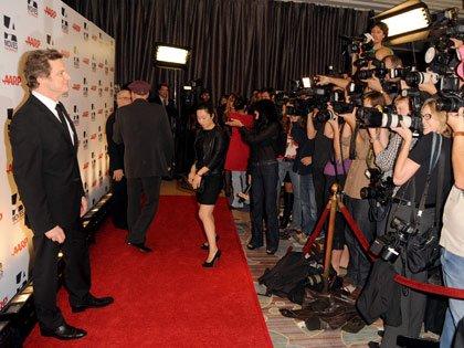 Actor Colin Firth en la gala de los premios: Movies for Grownups de AARP