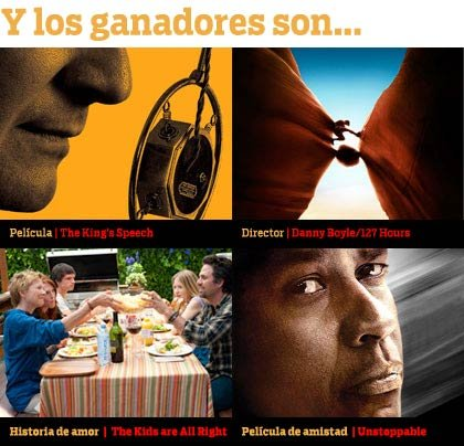 Ganadores de las Movies for Grownups