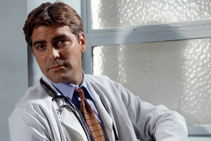 ER (seaon 1) Fall 1994 - Spring 1995 Shown: George Clooney (as Dr. Douglas Ross)