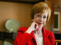 Actress Carol Burnett photographed at a Hotel in Westwood, CA.