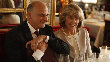 Kurt Fuller as John and Mimi Kennedy as Helen in Midnight in Paris