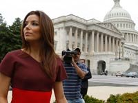"""Eva Longoria, Executive Producer of documentary film """"The Harvest"""", speaks out against the exploitation of child workers in the United States."""