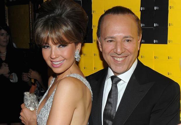 Thalia y Tommy Mottola - Parejas hispanas de celebridades