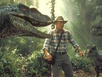 Sam Neil en una escena de Jurassic Park 3D, 2013.