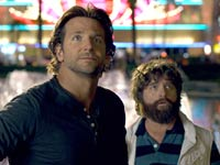 Ed Helms, Bradley Cooper y Zach Galifianakis en la película The Hangover Part III