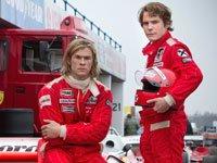 Daniel Brühl y Chris Hemsworth en la película Rush
