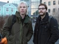 Benedict Cumberbatch y Daniel Bruhl en la película The Fifth Estate
