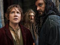 Martin Freeman como Bilbo Baggins en la película El Hobbit - The Desolation of Smaug.