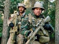Taylor Kitsch, Mark Wahlberg, Ben Foster y Emile Hirsch en la película Lone Survivor.