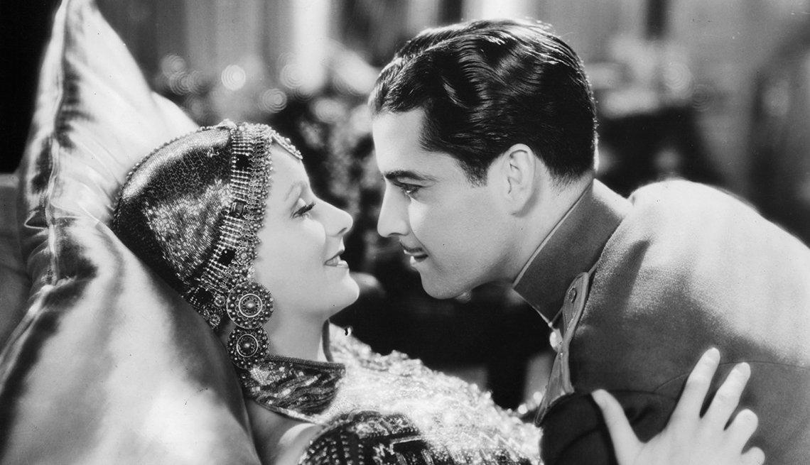 Greta Garbo, Ramón Novarro, latin lovers del cine