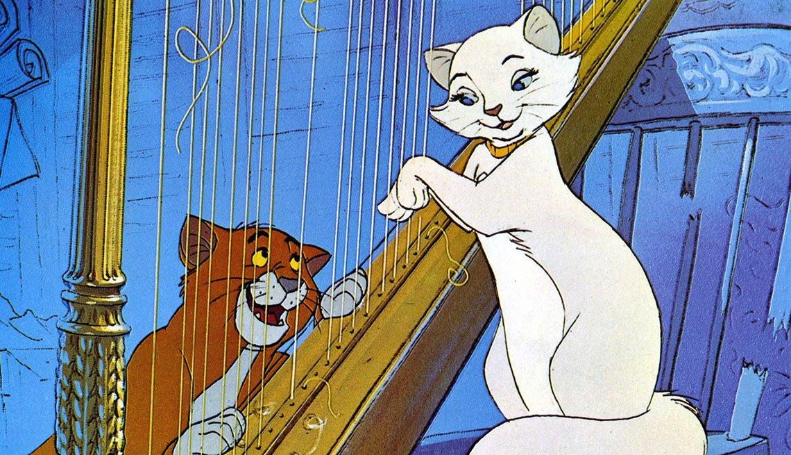 Escena de la pelicula The Aristocats - La carrera de Walt Disney