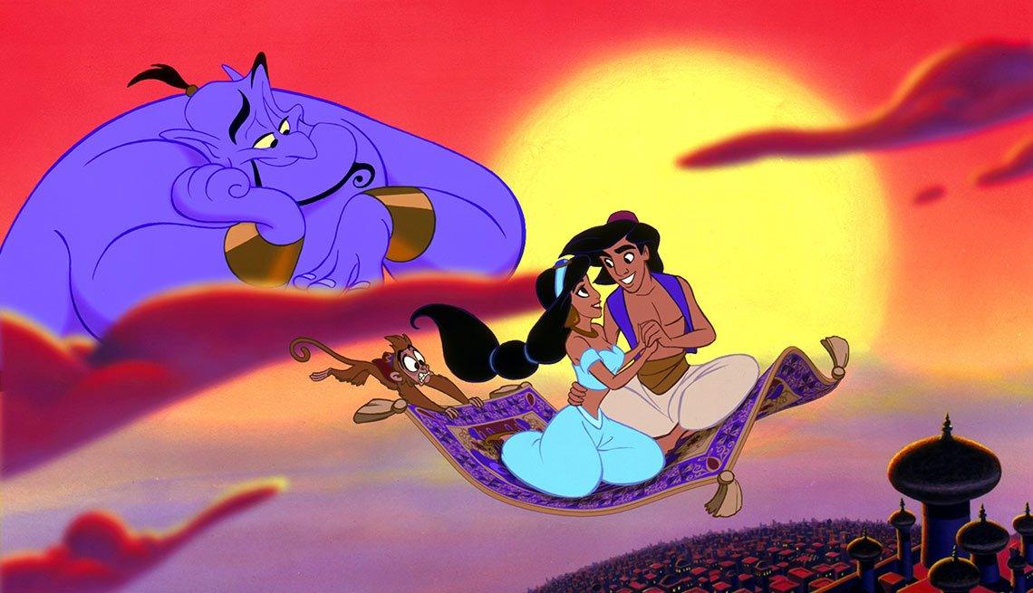 Escena de Aladino - La carrera de Walt Disney