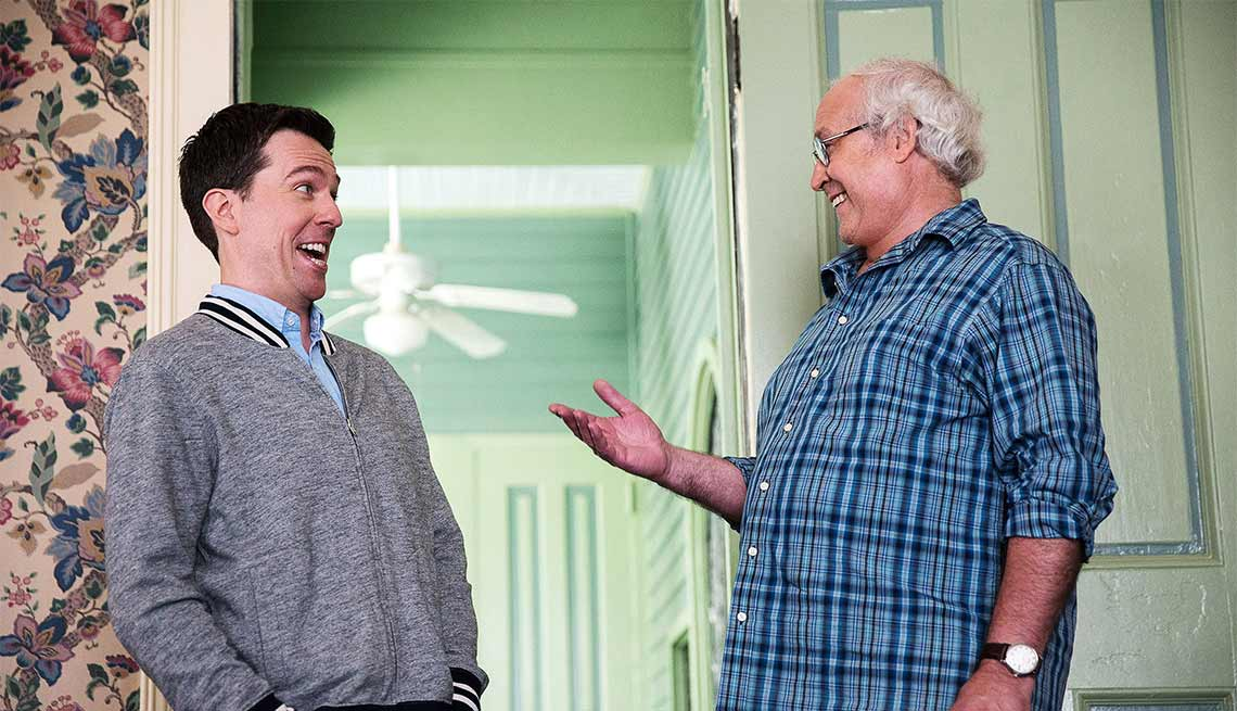 Ed Helms and Chevy Chase in VACATION, Movie Review