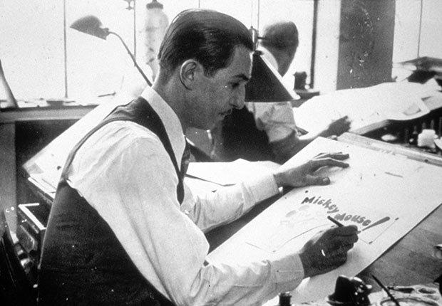 Walt Disney dibujando - La carrera de Walt Disney