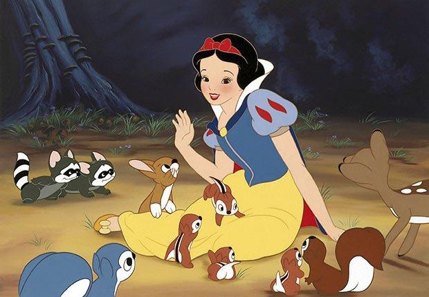 Escena de la película animada Blanca Nieves - La carrera de Walt Disney