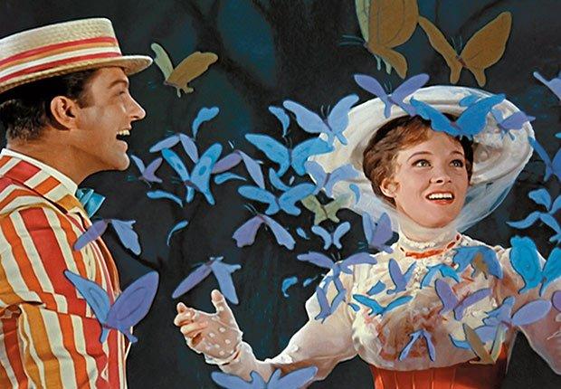 Escena de la película Mary Poppins - La carrera de Walt Disney
