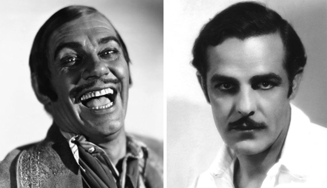Versión en español de The Bad Man - Walter Huston, izquierda, Antonio Moreno, derecha - Actores hispanos en películas de Hollywood