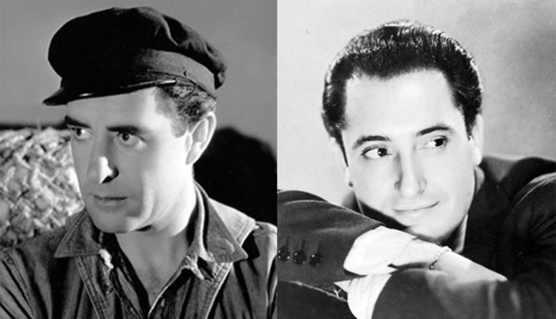 Versión en español de Way for a Sailor. John Gilbert, izquierda, José Crespo, derecha - Actores hispanos en películas de Hollywood