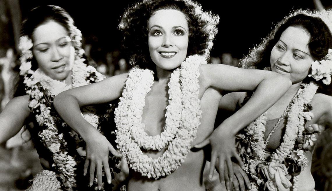 Dolores del Río en una escena de Paradise - Actriz de la época dorada del cine mexicano y Hollywood