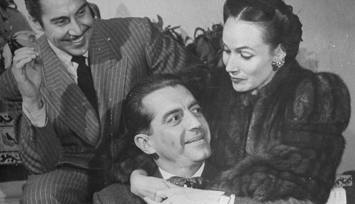 Dolores del Río con Emilio Fernández y Agustín Fink - Actriz de la época dorada del cine mexicano y Hollywood