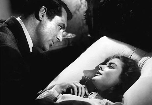 Una escena de Notorious, película con Ingrid Bergman, una actriz de la era dorada de Hollywood a 100 años de su natalicio.