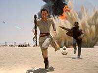 Escena de Star Wars, el despertar de la fuerza