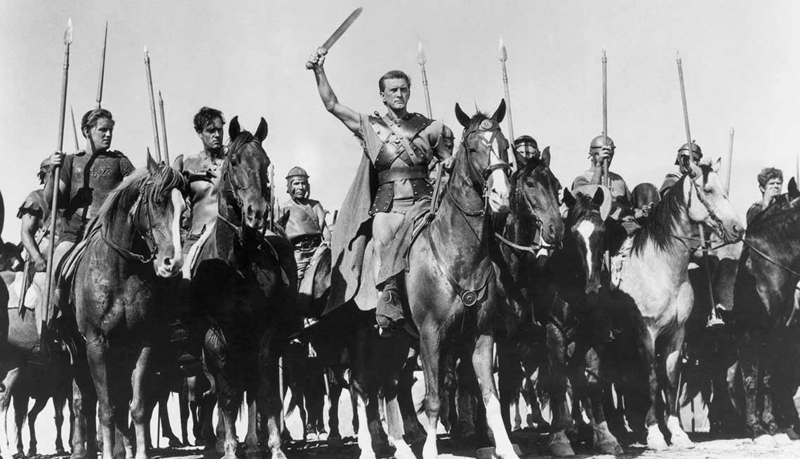 Kirk Douglas cumple 100 años - En una escena de la película Spartacus