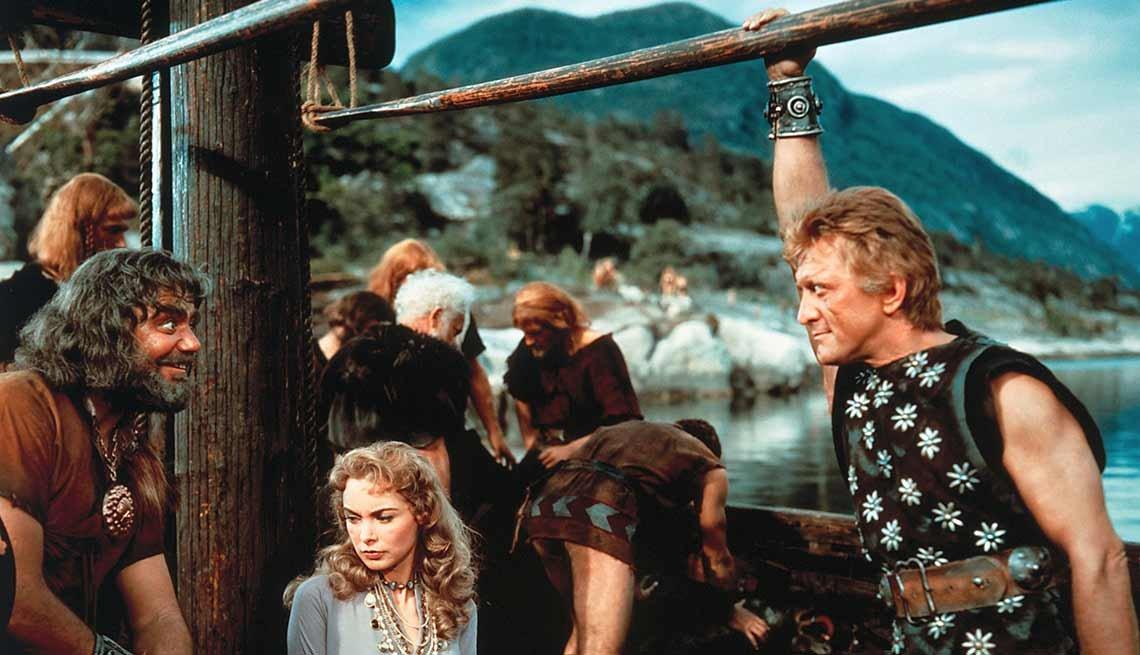 Kirk Douglas cumple 100 años - En una escena de la película The Vikings