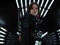 Felicity Jones en una escena de Rogue One: A Star Wars Story
