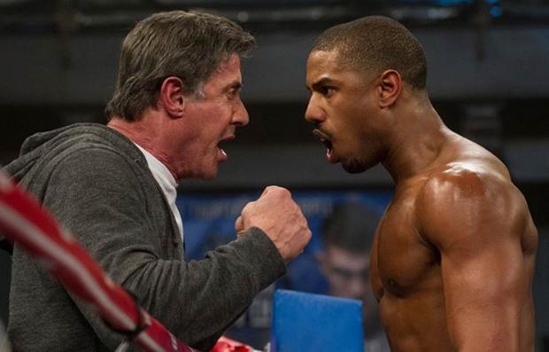 Sylvester Stallone y Michael B. Jordan en una escena de 'Creed' - Predicciones al Oscar 2016