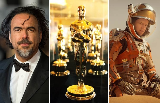 Alejandro G. Inarritu, estatuilla del Oscar, escena de The Martian - Predicciones al Oscar 2016
