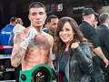 Boxer Dusty Hernandez-Harrison and Actress Rosie Perez