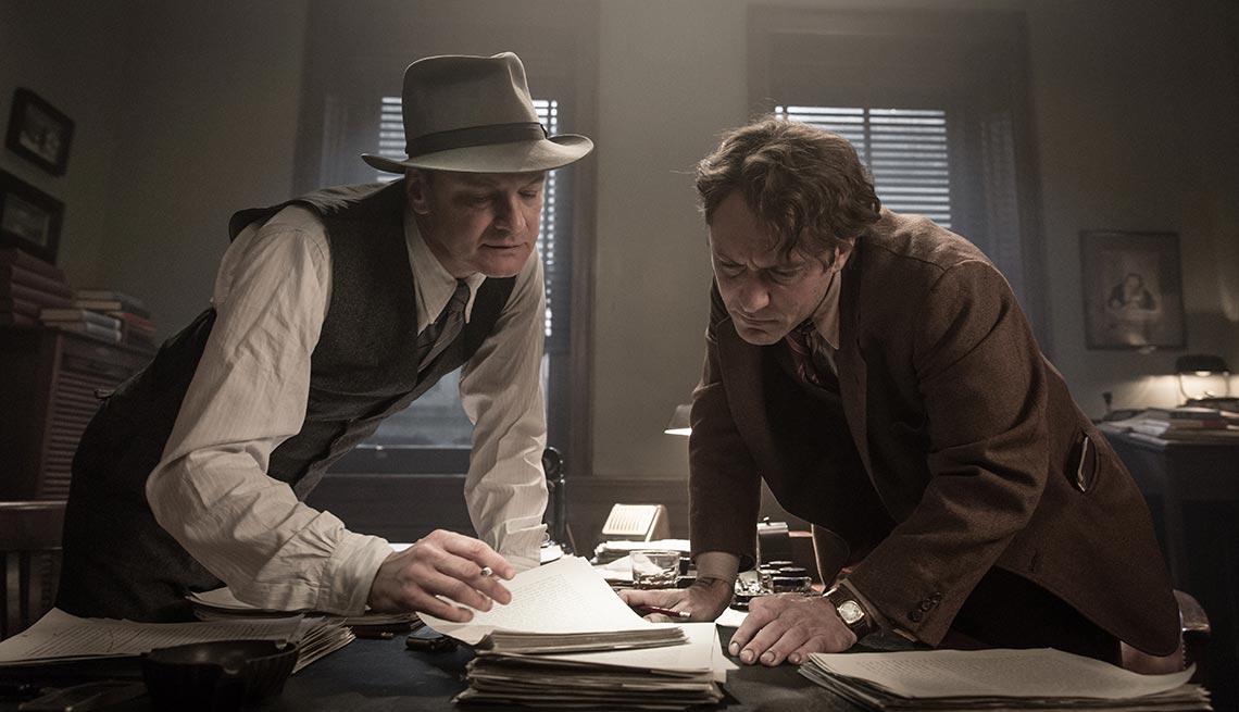 Colin Firth y Jude Law en 'Genius' - Películas para ver en los estrenos de verano 2016