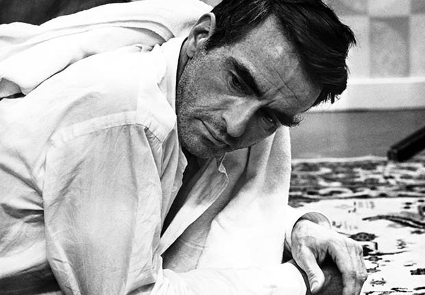 Montgomery Clift, una leyenda de Hollywood,  durante la filmación de 'The Defector'