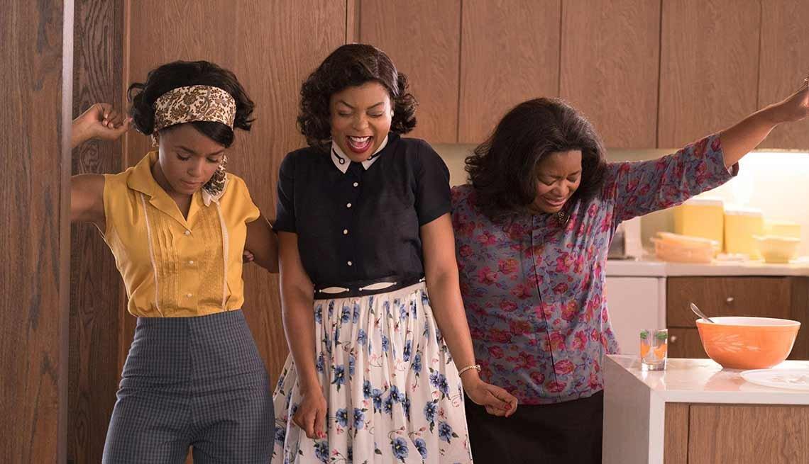 Janelle Monae, Taraji P. Henson y Octavia Spencer en la película 'Hidden Figures'