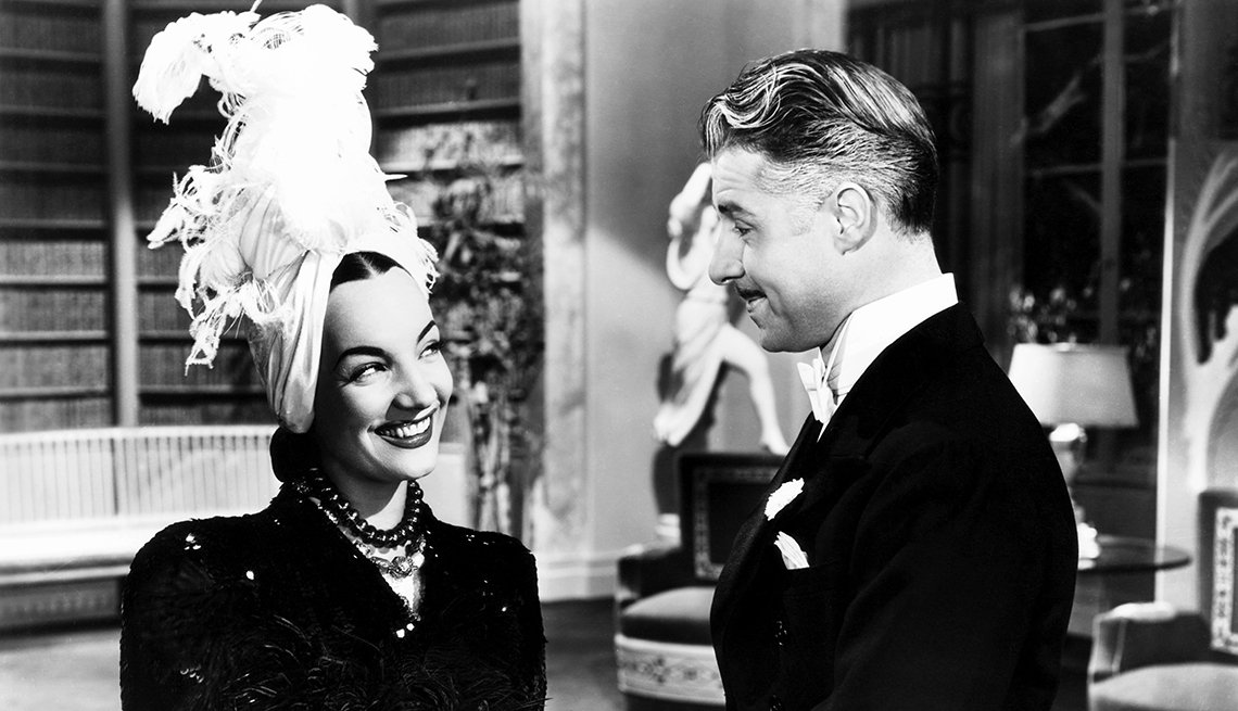 Carmen Miranda y Don Ameche en una escena de la película That Night In Rio
