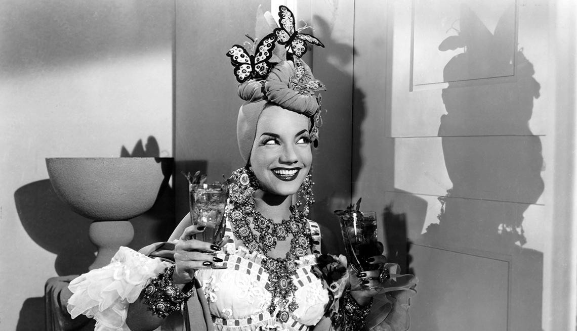 Carmen Miranda en una escena de la película Banana da Terra
