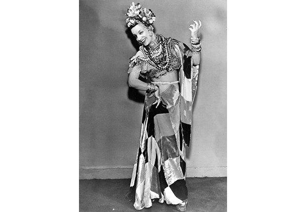 Retrato de Carmen Miranda en 1940