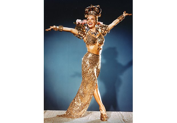 Retrato de Carmen Miranda, diva latina de Hollywood