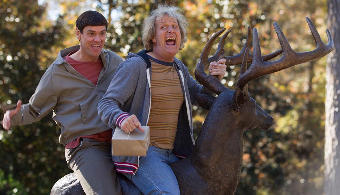 Jim Carrey,Jeff Daniels, en la película Dumb and Dumber To